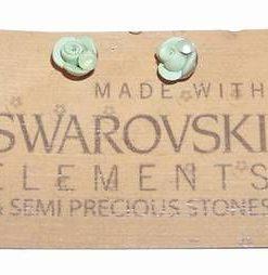 Cercei din metal nobil cu cristale Swarovski - delicati