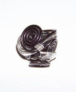 Inel cu simboluri Reiki, din metal, in doua culori