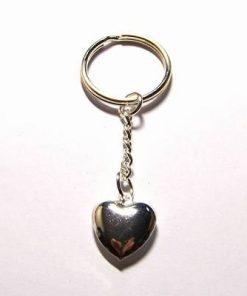 Breloc argintiu cu inima