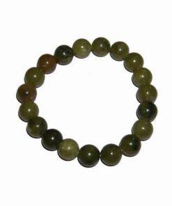 Bratara din sfere de jad, pe elastic