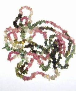Colier lung din turmalina multicolora