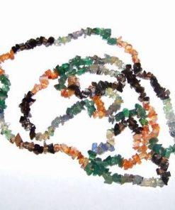 Colier lung cu cristale mixte
