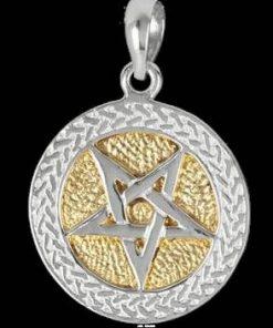 Pandantiv din bronz argintat - Pentagrama