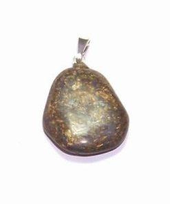 Pandantiv din bronzit cu agatoare din argint