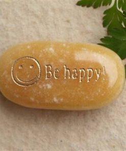 Cristal de citrin cu simbolul fericirii