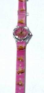 Ceas Feng Shui pentru fetite, pe curea roz
