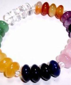 Bratara cu cristalele celor 7 chakre, pe elastic