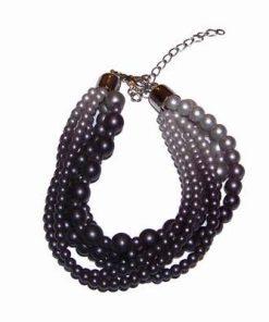Bratara Trend din perle industriale in gri degrade