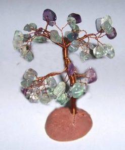 Copacel cu cristale de fluorit pe suport