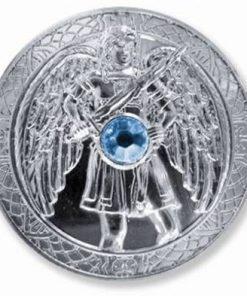 Moneda ingerului Mihael, placata cu argint