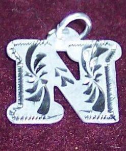 Pandantiv din argint cu initiala -N-- model deosebit!