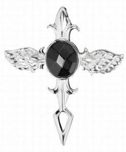 Cruce din metal nobil cu turmalina