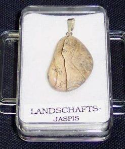 Pandantiv unisex din jasp cu agatatoare din argint