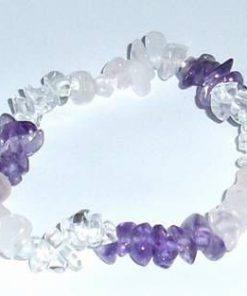 Bratara din mix de cristale, pe elastic