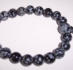 Bratara Mala din cristal de obsidian