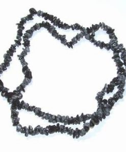 Colier din obsidian fulg de nea - lung