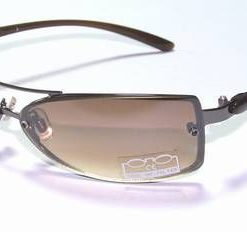 Ochelari de soare, cu rama din metal maro si lentila maro