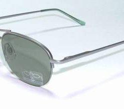 Ochelari de soare, cu rama din metal si lentila verde