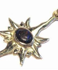 Pandantiv din argint in forma de soare cu cristal de opal