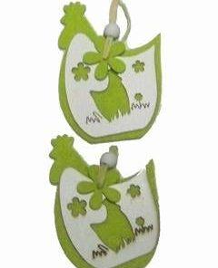 Ornament Feng Shui cu 2 gaini pentru prosperitate
