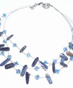 Colier placat, cu sodalit, lapis lazuli