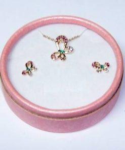 Set placat cu aur si cristale - Fluturii Eliberarii