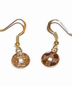 Cercei placati - monedele abundentei - aurii