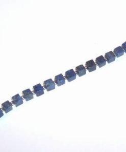 Bratara placata cu cristale de lapis lazuli