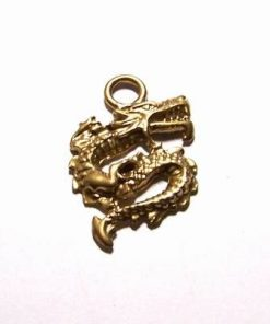 Dragon din metal nobil, auriu - model vintage