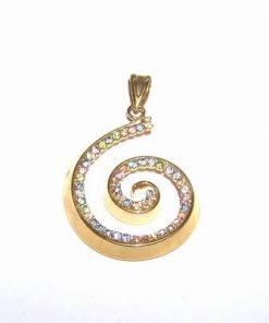 Pandantiv placat cu aur - spirala Reiki