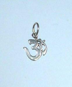 Pandantiv placat cu strat gros de argint - simbolul Tao/OM
