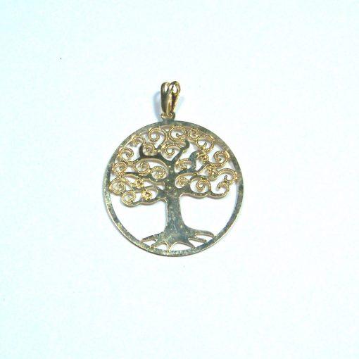 Pandantiv placat cu aur - Copacul Vietii