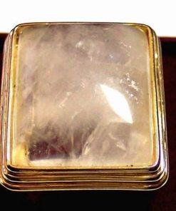 Inel placat cu aur de 14k si cristal de stanca - unicat !