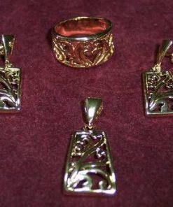 Set de bijuterii placate cu aur de 14k - model unicat !