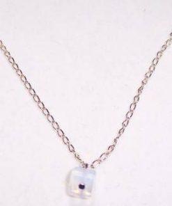 Colier placat cu aur de 14 k si cristale de opal - unicat!
