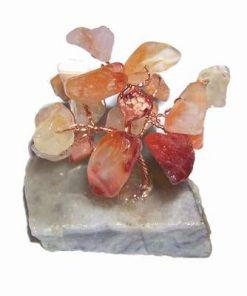 Copacel Feng Shui din agat pe suport din cristal