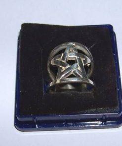 Inel din argint masiv cu pentagrama sanatatii
