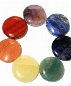 Set de 7 cristale rotunde - aferente celor 7 chakre