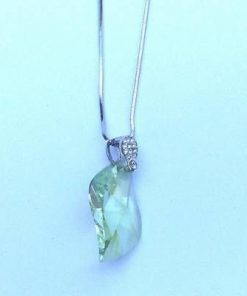 Pandantiv din cristale Swarovski multifatetate, pe metal