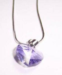 Pandantiv din cristal de Swarovski in forma de inima