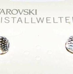 Cercei din metal nobil cu cristale Swarovski multifatetate