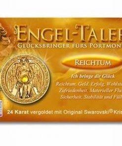Ingerul Bogatiei - amuleta norocoasa placata cu aur de 24 K