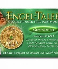 Ingerul Sanatatii - amuleta norocoasa placata cu aur de 24 K