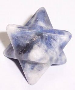 Merkaba din cristal de sodalit - ARGINTAT