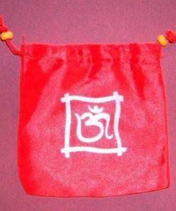 Saculet din panza, portocaliu, cu simbolul OM